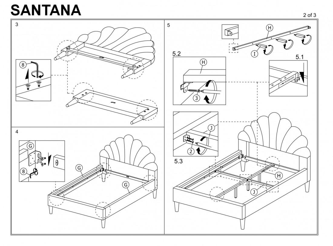 """Кровать """"Santana Velvet"""""""