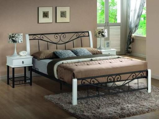 """Кровать """"Parma"""" бело-черная"""